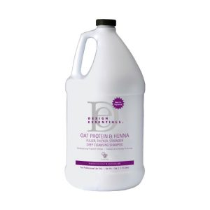 Oat Protein & Henna Fuller, Thicker, Stronger Deep Cleansing Shampoo 1 Gal