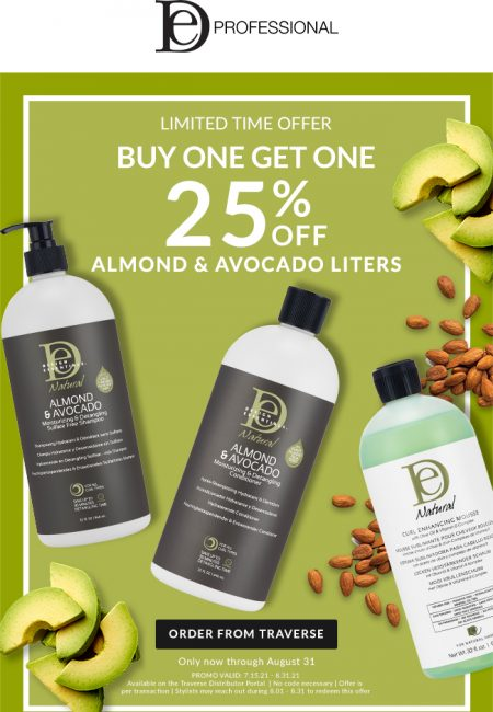 offer in almond and avocado liters